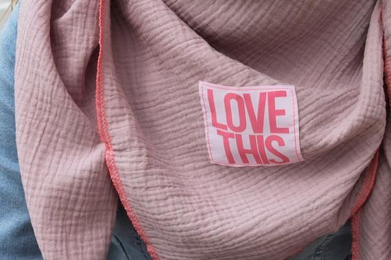 XXL Neck scarf muslin, muslin scarf, muslin scarf, rainbow cloth, rainbow scarf, pink, glitter, muslin, summer, patch, spring