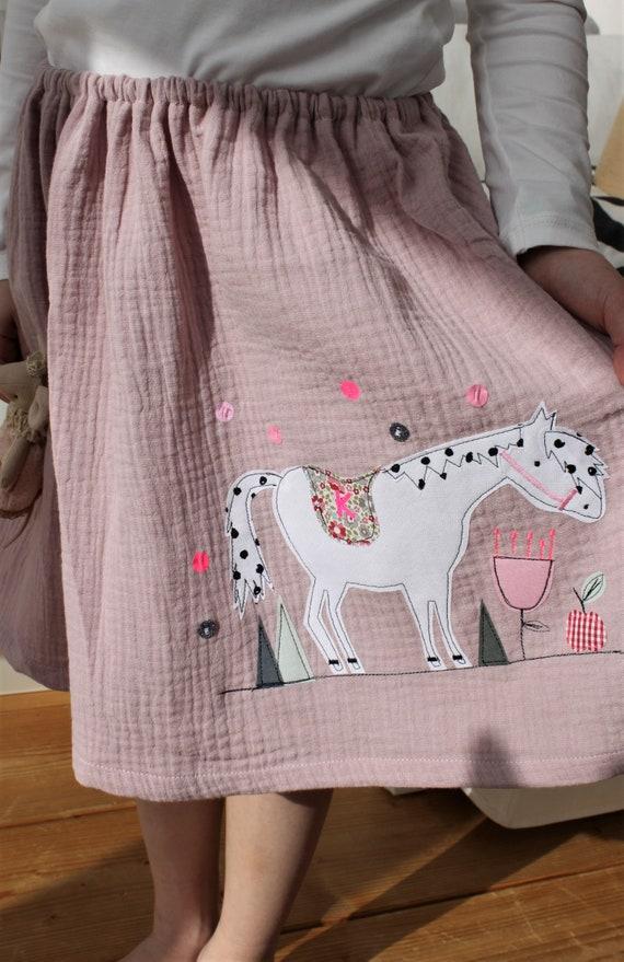 Skirt, Rock Muslin, Muslin skirt, Muslin, Rock Horse, Horse Birthday, Confetti, Glitter Skirt, Muslin pink, altrosé, Rainbow skirt