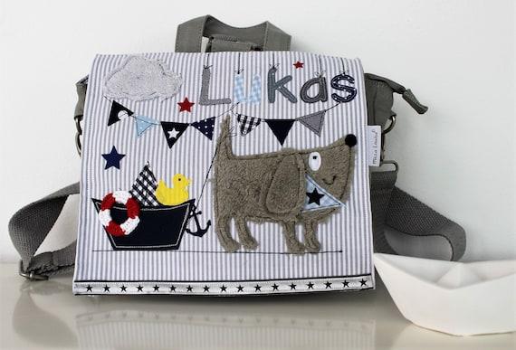 Nursery Backpack Nursery Bag with Name Backpack Kindergarten Child Kids Backpack Kita Bag Wet Set Dog Boot Milla Louise