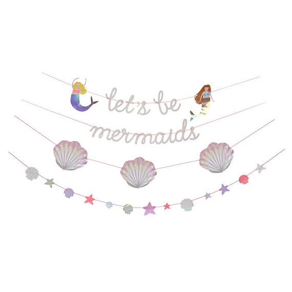 Meri meri mermaid garland let's be mermaids