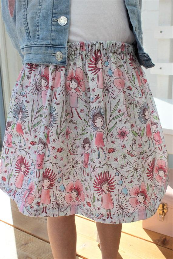 Skirt, Summer Skirt, Lille fabric, Skirt Elf, Fairy, Flowers, Spring, Confetti, Skirt Girl, Summer, Cotton Skirt, Rock Birthday