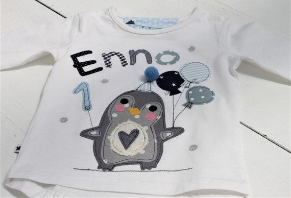 Birthday shirt kids,birthday shirt,girl shirt,shirt with name,shirt with number, penguin, shirt with penguin,T-shirt, children's birthday