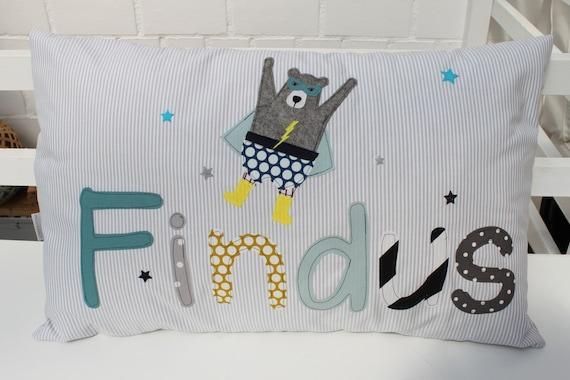 Pillow named pillowcase pillow pillow pillow personalized name pillows cuddly pillow superhero superhero pillow boy