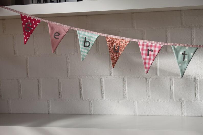 Wimpelkette Kinderzimmer Stoff Wimpel Wimpelkette Geburtstag | Etsy