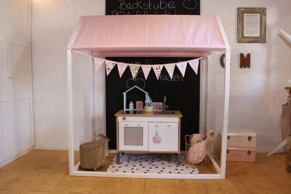 only 1x available playhouse or house bed with roof - (also as a shop, for the garden, above the bed, cottage with roof)