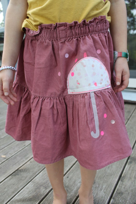 Rock, Rock Feincord, Fine cord skirt, Step skirt, Rock Cord, Umbrella, Confetti, Glitter Skirt, Cord Pink, Altrosé, Rock Autumn