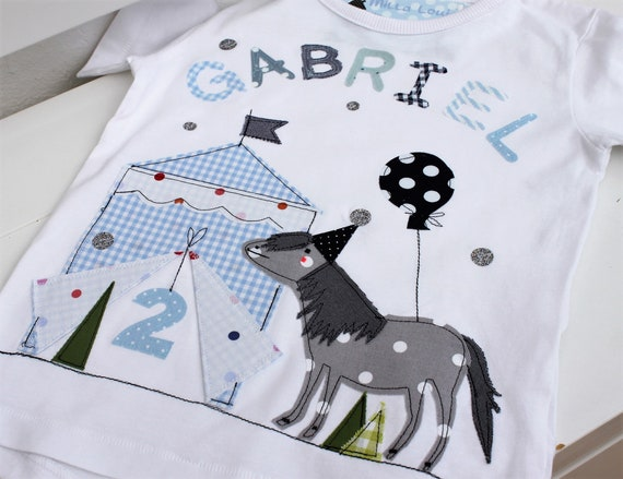 Birthday shirt kids,birthday shirt,shirt for boys,shirt with name,shirt with number,circus,gift,pony shirt,horse,horse shirt