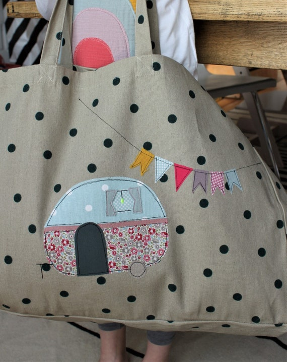 Bag beach bag shopper tote bag camper bath bag summer bag bag camping large shoulder bag spring caravan