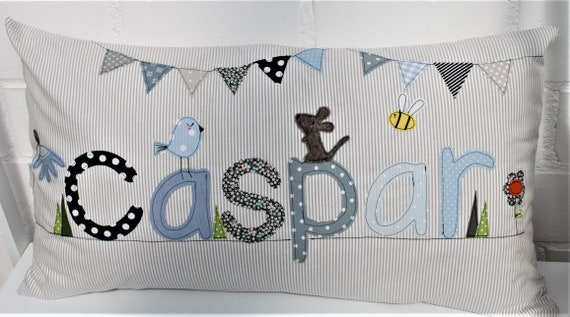 Pillow with name Pillowcase Pillow birth Baby pillowcase Pillow personalized name pillow Cuddly pillow Children's pillow Baby pillow