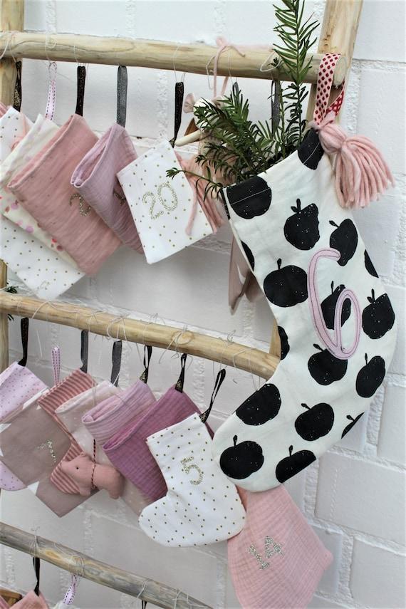 Advent Calendar Fabric, Advent Calendar Children, Advent Calendar for Filling, Advent Calendar Muslin, Advent Calendar Sewn, Advent Calendar