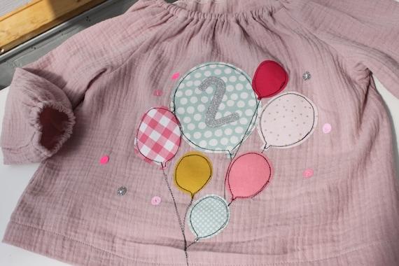 Blouse birthday, blouse girl, blouse birthday, blouse with number, blouse with name, pendant birthday, tunic, mustline, birthday blouse