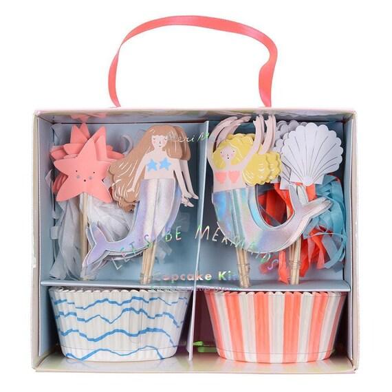 Let's be mermaids Cupcake Set by Meri Meri