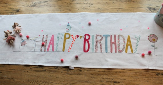 Table Runner Tablecloth Middle Blanket Party Decoration Birthday Children's Birthday Happy Birthday Children's Birthday Rainbow
