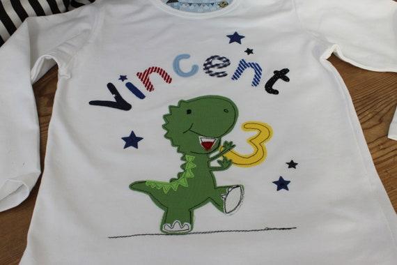Birthday shirt children, birthday shirt, shirt for boys, shirt with name, shirt with number, Dino, Dragon, Gift, shirt, Milla Louise