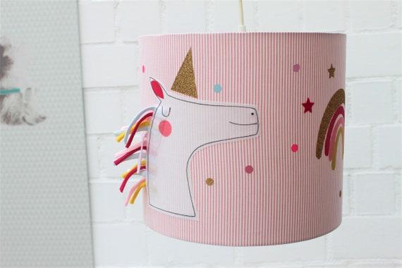 lampshade children's room, hanging lamp, ceiling lamp, floor lamp, lamp, lamp, light, unicorn, rainbow, gift baby, gift baptism
