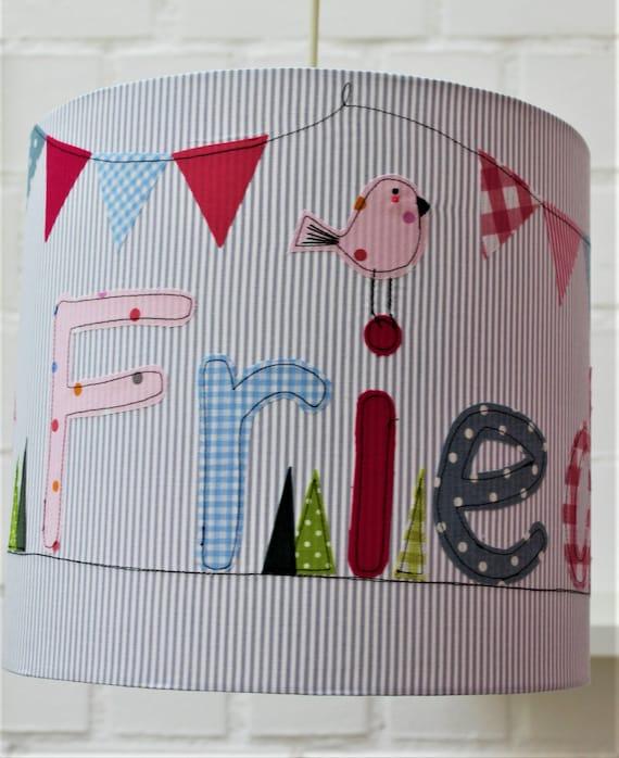 Lamp children, lampshade nursery, hanging lamp, ceiling lamp, floor lamp, lamp, light, light, lamp with name, girl, by Milla Louise