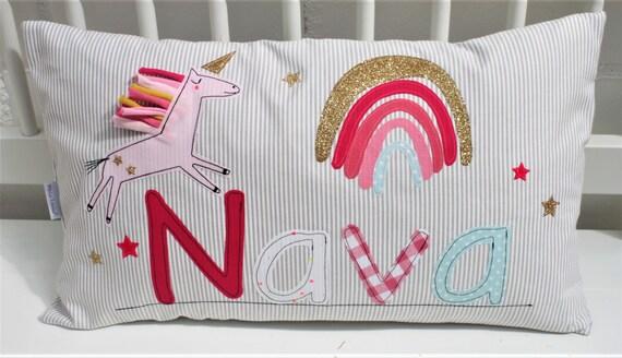 Pillow with name pillow cover pillow birth baby pillow pillow personalized name pillow pillow children pillow pillow unicorn