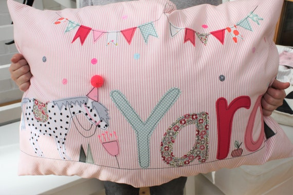 Pillow with name pillow cover pillow pillow pillow personalized name cushion cushion pillow horse horse pillow horse birthday