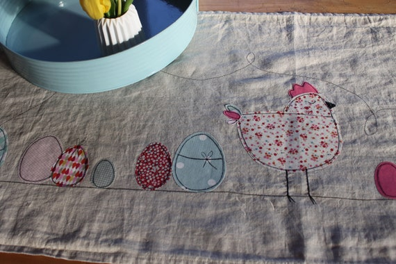 Express delivery!! Table Runner Easter, Easter Tablecloth, Easter Bunny Easter Eggs, Spring, Easter Decoration, Spring Decoration, Chicken,Hen