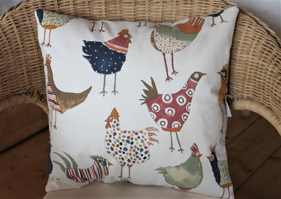 1x Immediately available pillow, pillow case, chicken, chicken, spring, decoration, decoration pillow, Easter decoration