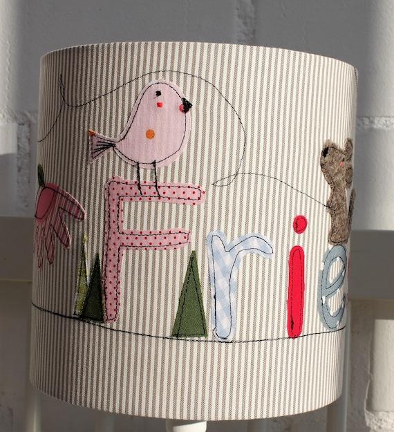 Lamp Kids, Lampshade Nursery, Hanging Lamp, Ceiling Lamp, Floor Lamp, Lamp, Lamp, Light, Lamp with Name, Girl, by Milla Louise