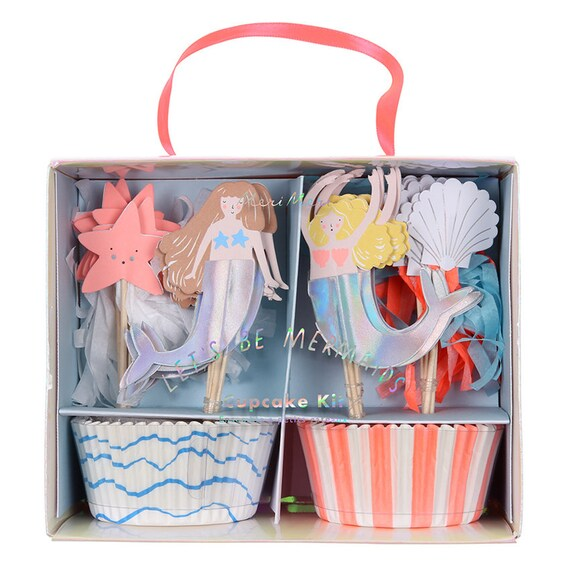 Meri Meri let's be mermaids cupcake set