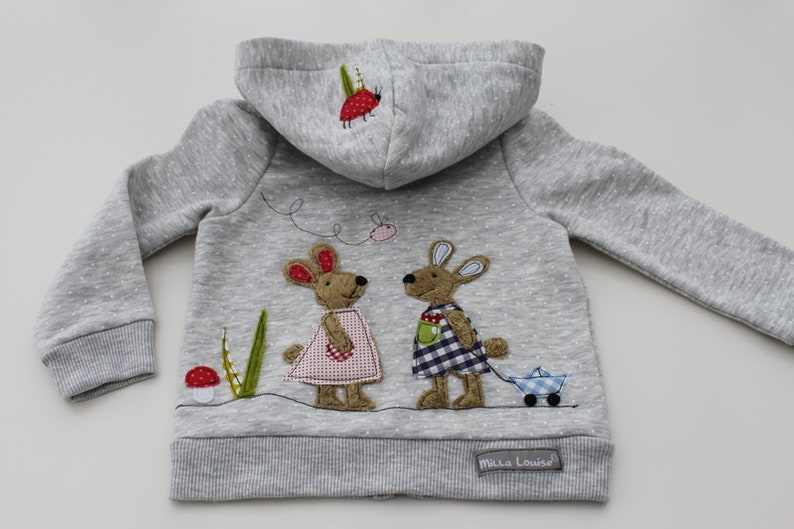 Hoodie Kids Girls Sweatshirt Bunnies Milla Louise image 0