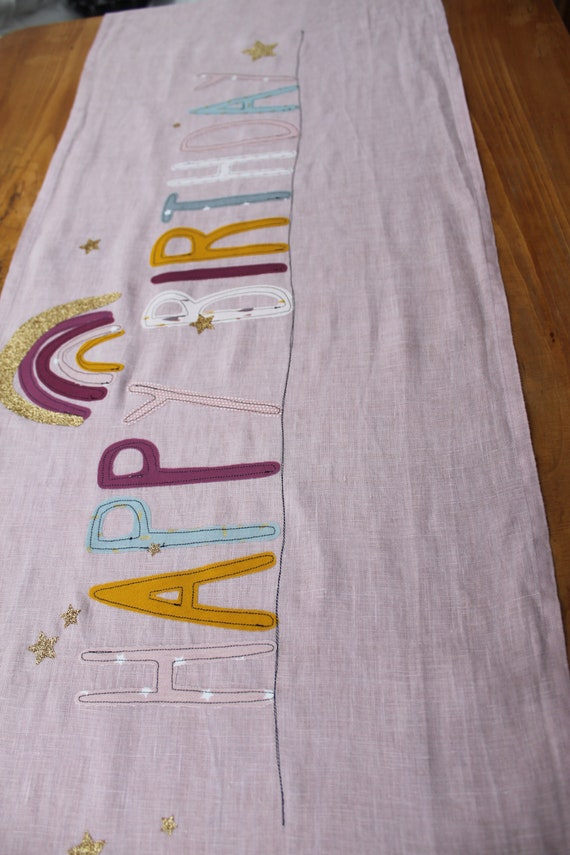 Tablerunner Tablecloth Middle Blanket Party Party Decoration Birthday Children's Birthday Happy Birthday