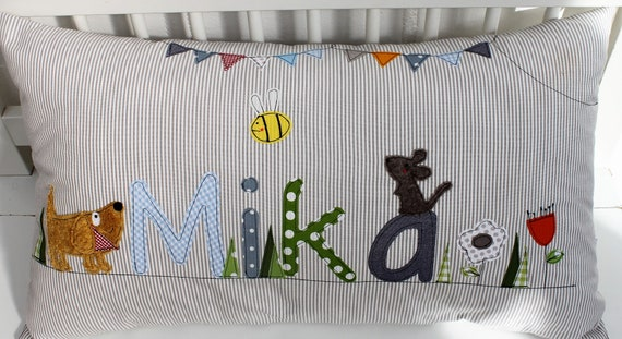 Pillow with name pillow cover pillow birth baby pillow pillow personalized name pillow pillow child pillow baby pillow