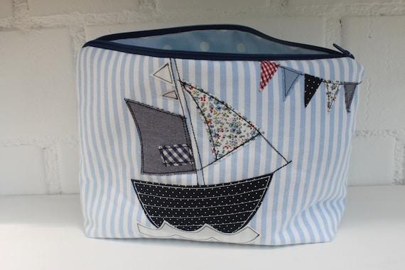 Diaper bag beauty bag culture bag sailboat diaper bag with name baby Gift baptism Birth