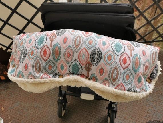 Stylish stroller muff muff stroller handmuff stroller with beautiful pattern Milla Louise 1x immediately available