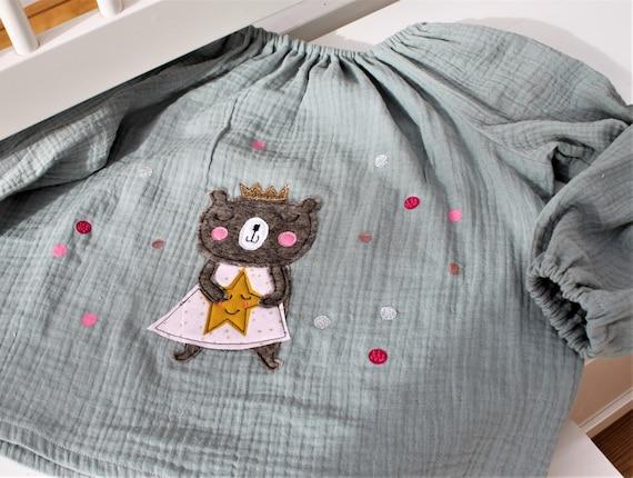 Blouse birthday, girl blouse, birthday blouse, blouse with number, blouse with name, hanger birthday, tunic, musteline, birthday blouse