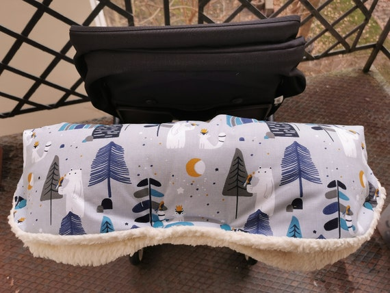 Sweet stroller muff muff stroller handmuff stroller with sweet winter friends Milla Louise