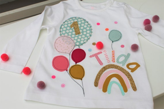 Birthday shirt kids,birthday shirt,shirt girl,shirt with name,shirt with number, balloons, shirt with balloons,t shirt, rainbow shirt