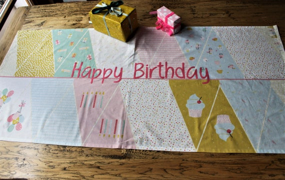 Tablerunner Tablecloth Middle Blanket Party Party Decoration Birthday Children's Birthday Happy Birthday Milla Louise Decoration Children's Birthday