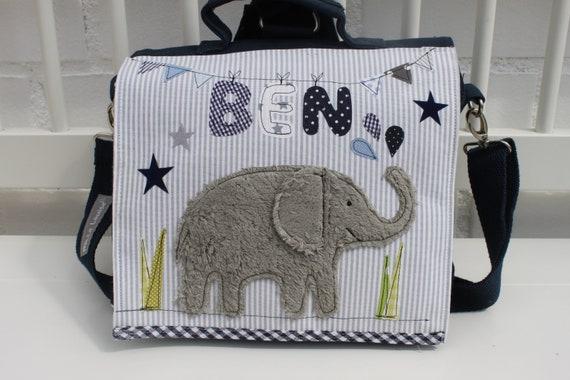 Kindergarten Backpack Kindergarten Bag with Name Backpack Kindergarten Child Children's Backpack Kita Bag Canvas Elephant Milla Louise