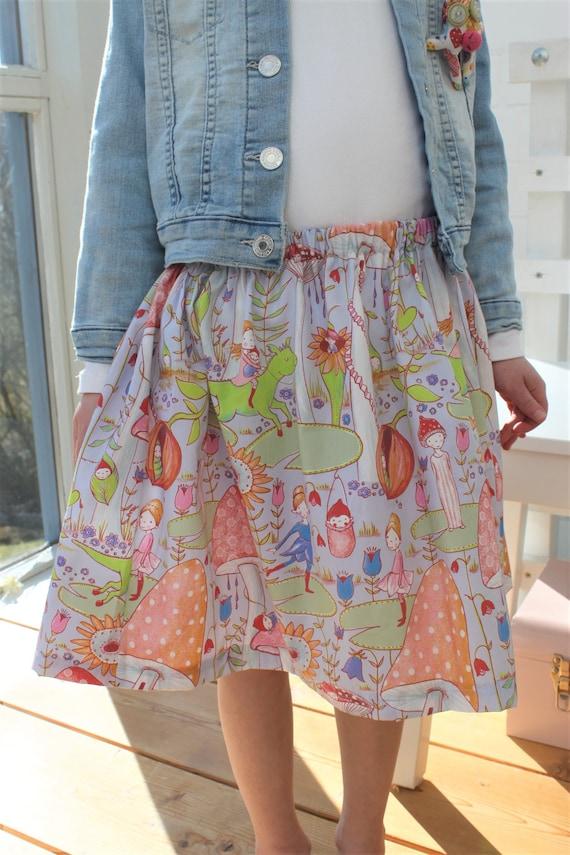 Skirt, Summer Skirt, Lillefabric, Skirt Elf, Fairy, Toadstool, Spring, Confetti, Skirt Girl, Summer, Cotton Skirt, Rock Birthday