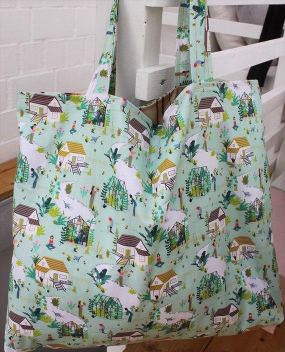 Bag Garden, Garden House, Summer, Spring, Home Holiday, Gardenlife, Bath Bag Shopper Tote Bag Seagulls Large Bag, Yoga Bag
