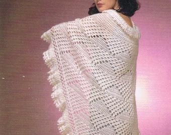 Lacy Chevron Shawl Wrap /crochet pattern/womens shawls/wraps