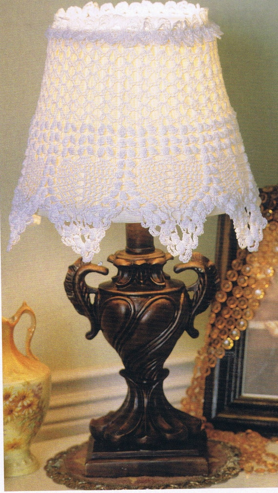 Lacey Lamp Shade Crochet Pattern Home Decor Etsy
