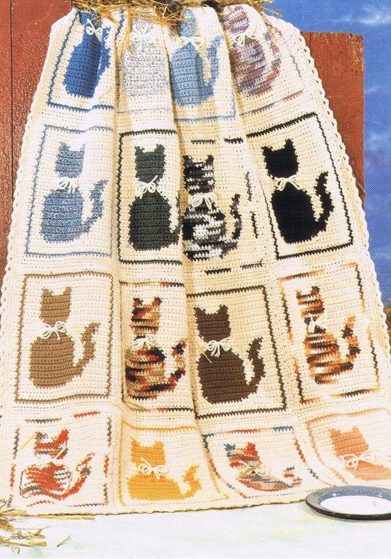 Cat Afghan Crochet Patternpdf Pet Crochet Animal Crochet Etsy