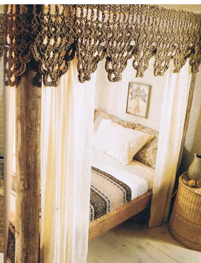 Crochet Bed Canopy Valance Crochet Pattern Pdf Etsy