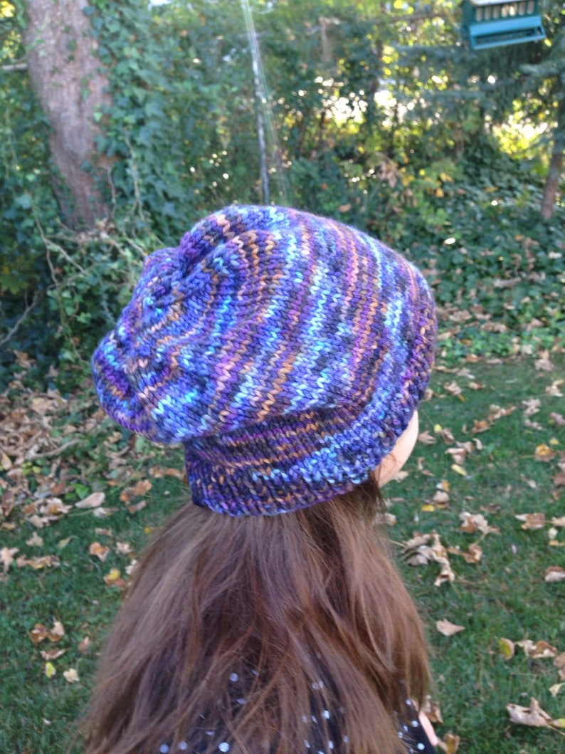hand knit slouchy beanie merino wool slouchy beanie woman slouchy hat hat Slouch hat mothers day gift gift for her slouch beanie