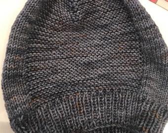 Slouch hat, Slouchy beanie, slouch beanie, slouchy hat, hand knit in NY from yummy soft 100% extrafine merino wool yarn, custom colors avlbl