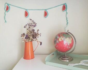 Crochet Watermelon Garland / Bunting