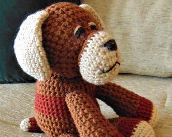 """Crocheted puppy dog stuffed animal doll toy """"Rowdy"""""""