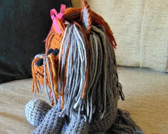 "Crocheted Yorkie puppy dog stuffed animal doll toy ""Yip"""