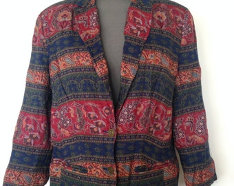 5fab8f17be Women s lightweight funky Vintage Blazers - 90s summer festival blazers