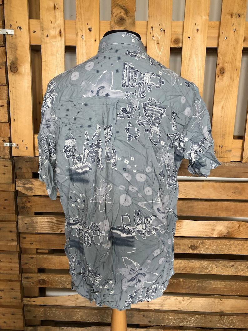 90s fresh prince style oversized shirts Vintage Funky Unisex Oversized Shirts size L