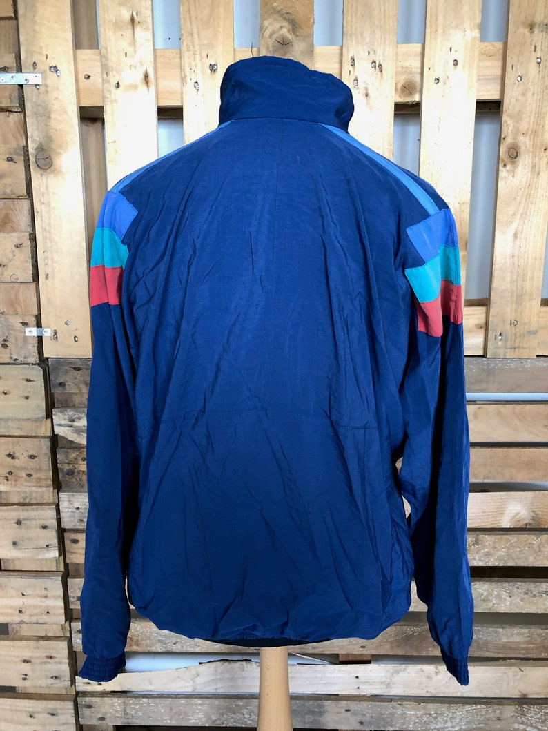 funky retro rave windbreaker size ML Vintage Festival 70s80s Track Suit Jacket